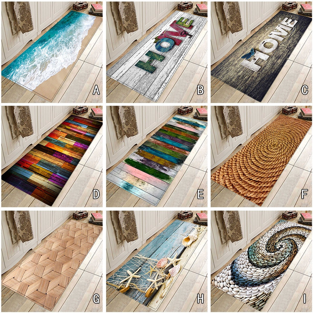 40x120 Cm 9types Scenic Carpet Hallway Doormat Anti - Slip Carpet Absorb Water Kitchen Mat Rug Alfombra Tapis Коврик Для Ванной