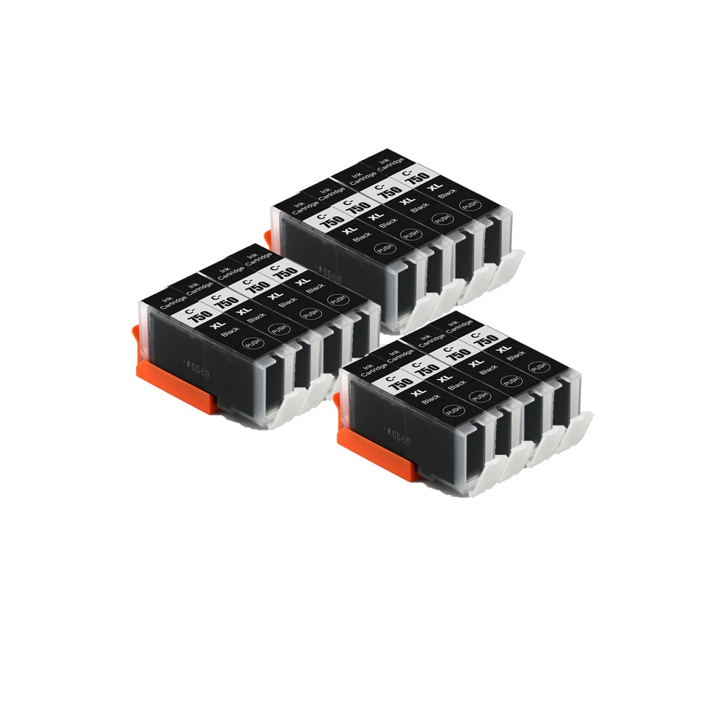 Compatible PGI  750 BK BLACK ink cartridge for CANON PIXMA  MX727 MX927 Ip7270 IX6770 MG5570 IX6870 IP8770 printers