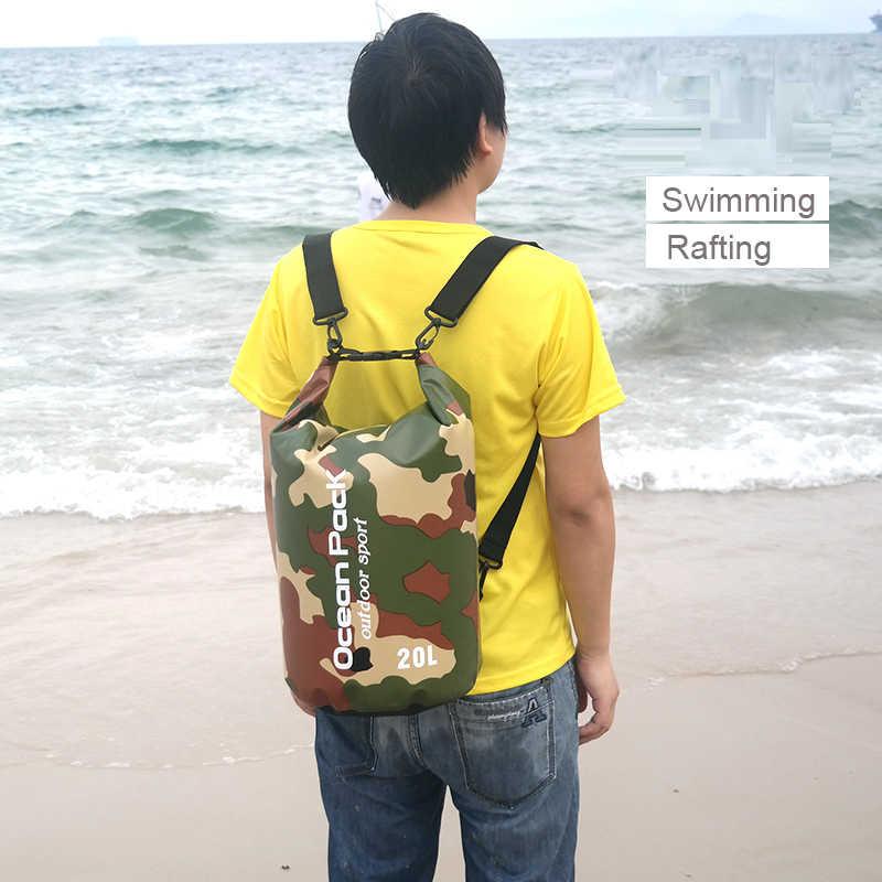 Pvc 5l 10l 20l Outdoor Swimming Waterproof Dry Bag Storage For Man Women Swim Rafting Kayak Diving Floating Swimming Bags Aliexpress