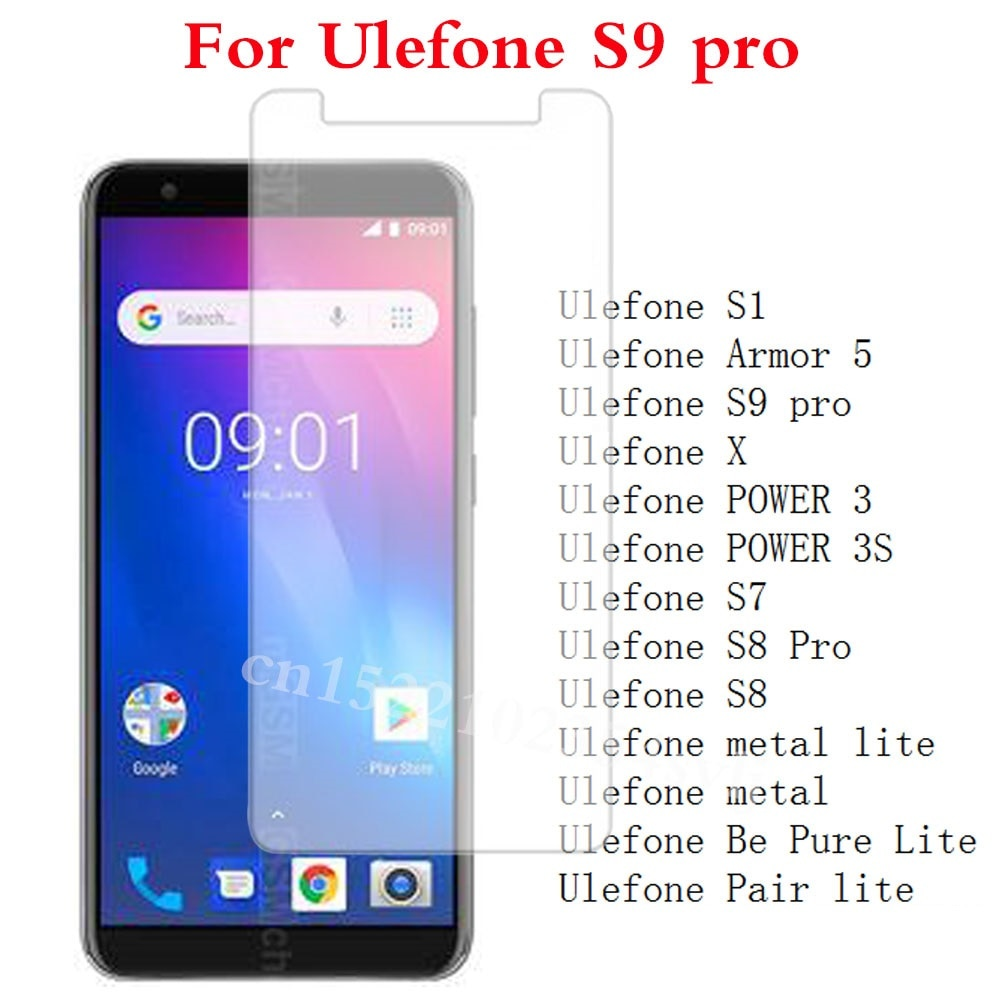 Tempered Glass for Ulefone S9 pro S1 Armor 5 X POWER 3 3s S7 S8 Pro metal lite Be Pure Lite Pair lit
