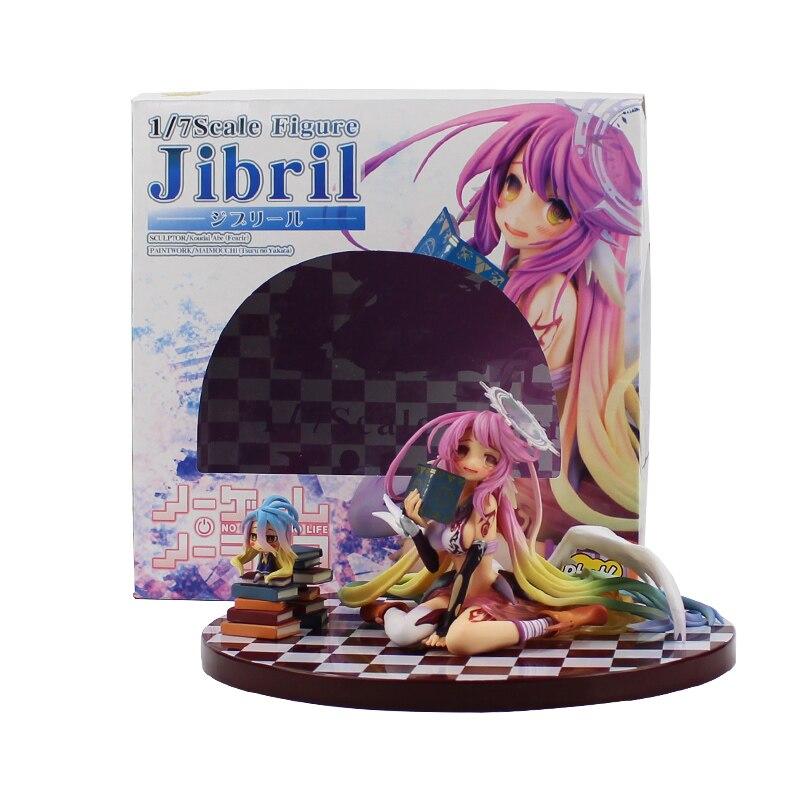 Anime juego de la vida ningún juego ninguna vida Ángel Jibril escala completa pvc figura 15cm kawaii chica modelo juguetes para regalos con caja de color