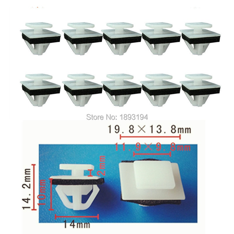 25 PCS Nylon 87756-2E000 Kia Carro Moldagem Clipes Com Sealer Para Hyundai Elantra/Entourage/Sonata