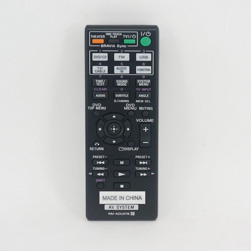 RM-ADU078 Original de Blu-ray DVD de audio de cine en casa de DAV-5.1 DZ/TZ tipo de control remoto para SONY