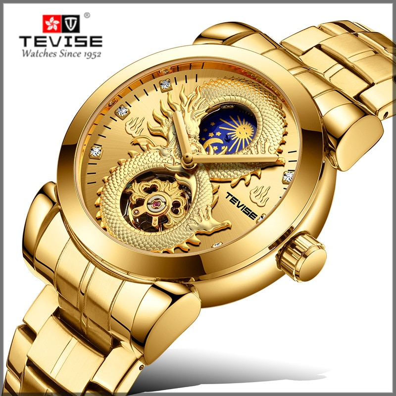 2021 New TEVISE Brand Men Mechanical Watches Luxury  Automatic Watch Male Gold Clock Business Wristw