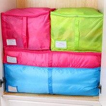 Offre spéciale maison sac de rangement vêtements couette literie couette poignées zippées blanchisserie Polyester oreillers sac de rangement boîte