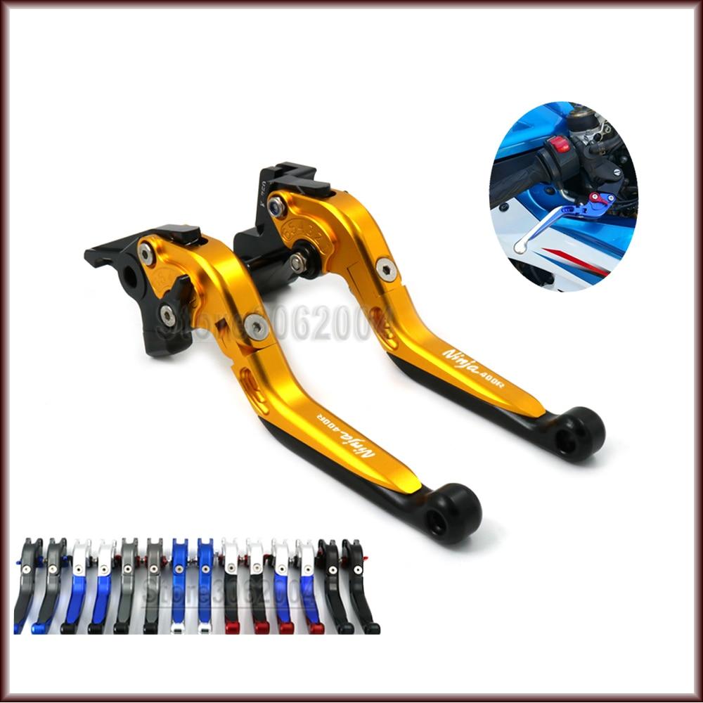 Para KAWASAKI NINJA400R NINJA 400R 2011, accesorios para motocicleta, palancas de embrague de frenos ajustables plegables y extensibles con LOGO CNC