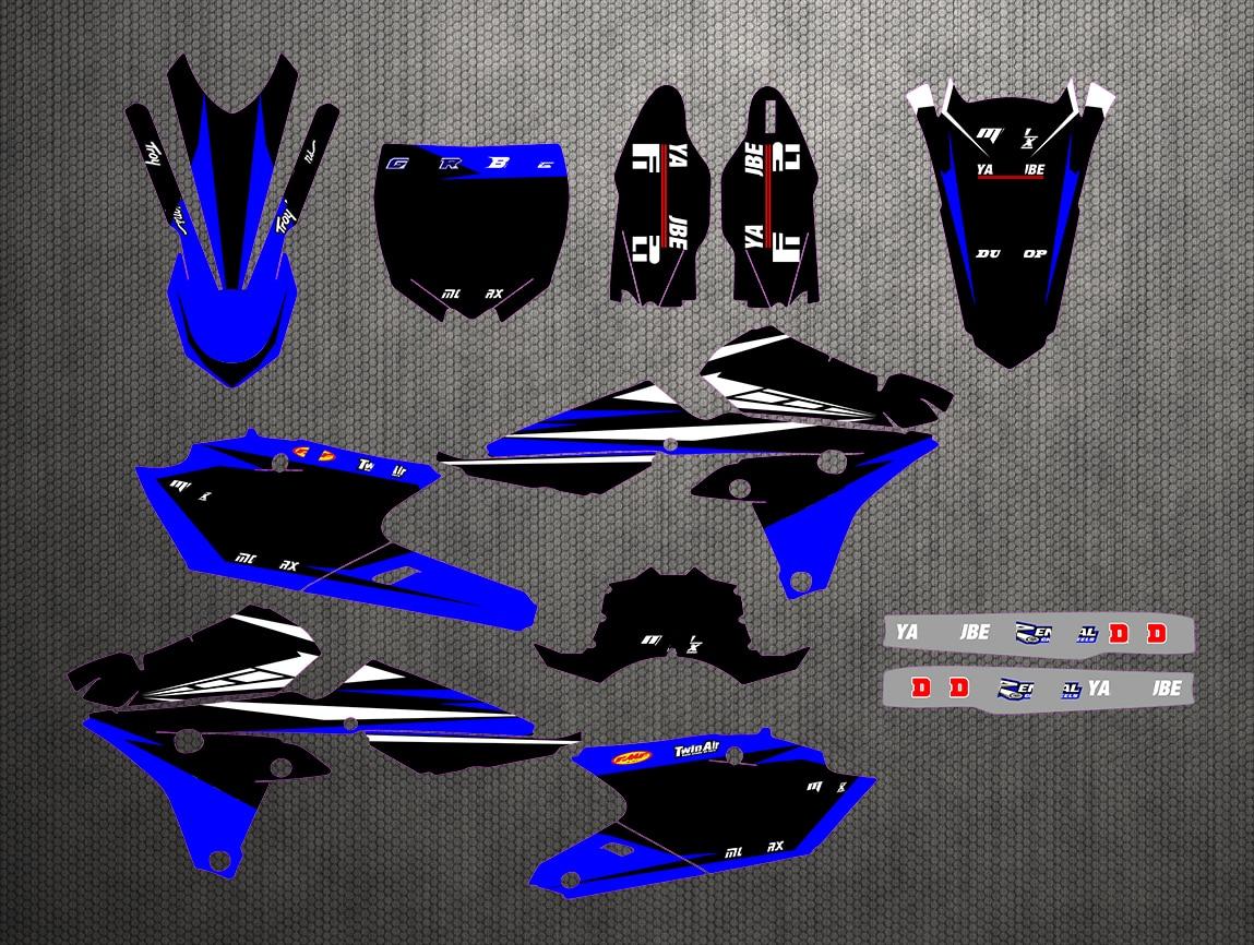 Motocicleta gráfico pegatinas de etiqueta para Yamaha YZF 250 450 YZF250 YZ250F YZ450F YZF450 2014-2017/YZ250FX 2015, 2016, 2017, 2018