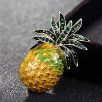 donia jewelry fashion pineapple brooch bouquet brand enamel yellow turban accessories womens best party gift scarf accessories