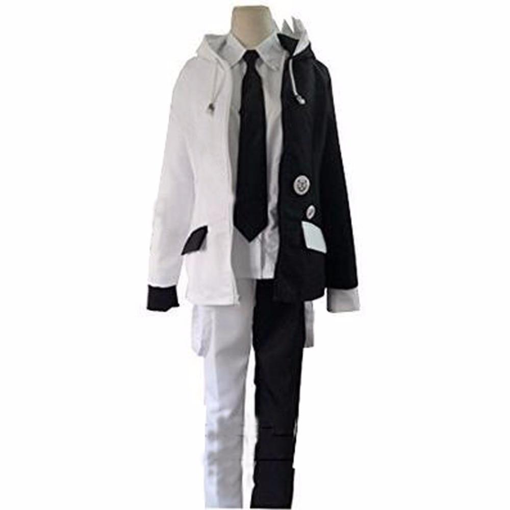 2018 Danganronpa Monokuma School Uniform Coat Jacket Shirt Pants Outfit Anime Cosplay Costumes
