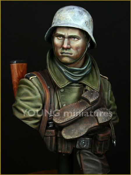 1/10 figura de resina busto Modelo de la Marina sin montar, sin pintar