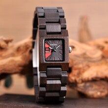 Holz Damen Uhren Frauen Holz Uhr BOBO VOGEL Bambus Armbanduhr Quarz Platz in Holz box Mädchen freund geschenk