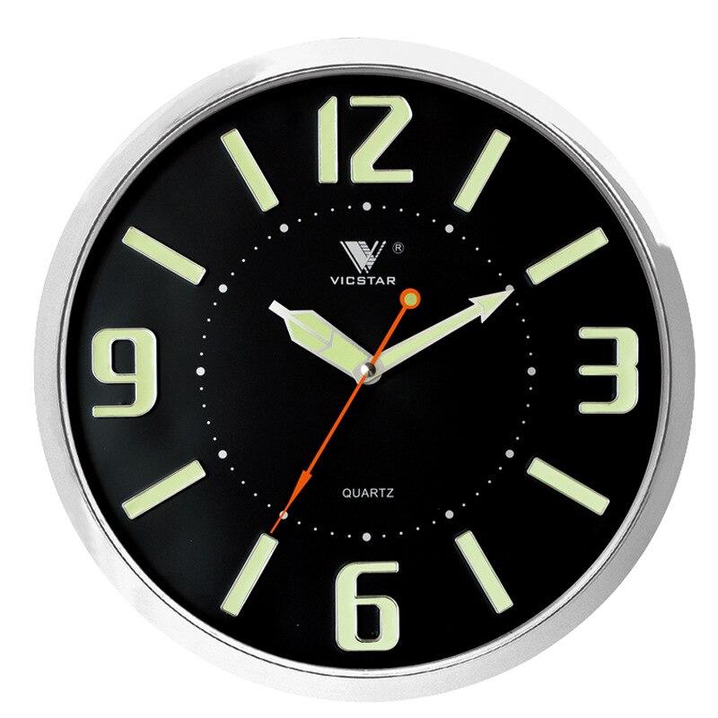 Real life Room Escape Glow in Dark 13 inch Moderne Wandklokken Stille Non Tikkende Woonkamer Muur Horloge Grote cijfers timer