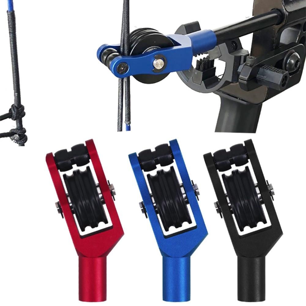 Cable de arco compuesto de aluminio, cuerda para arco deslizante, separador de rodillo, separador de cuerda de repuesto, polea de flecha CP141