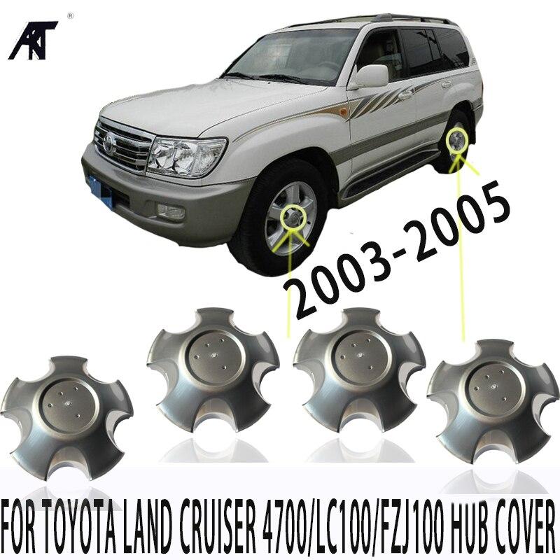 4pcs WHEEL RIM CENTER CAPS For TOYOTA Land Cruiser 4700/LC100/FZJ100 2003-2005 42603-60570 Hub cover