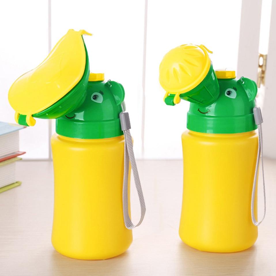 Orinal de aseo portátil para bebés, orinal de emergencia para niños y niñas, urinario de viaje para el coche