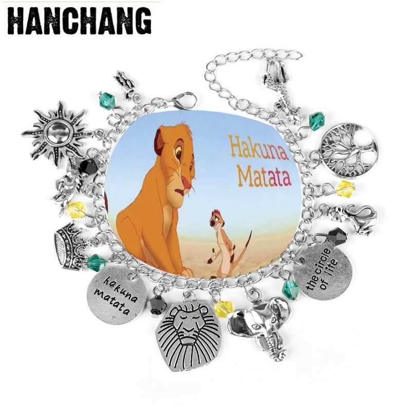 Pulsera inspirada Hakuna Matata León rey pulsera el círculo de la vida brazalete con diseño de animal pulsera mujeres hombres pulsera más resistente