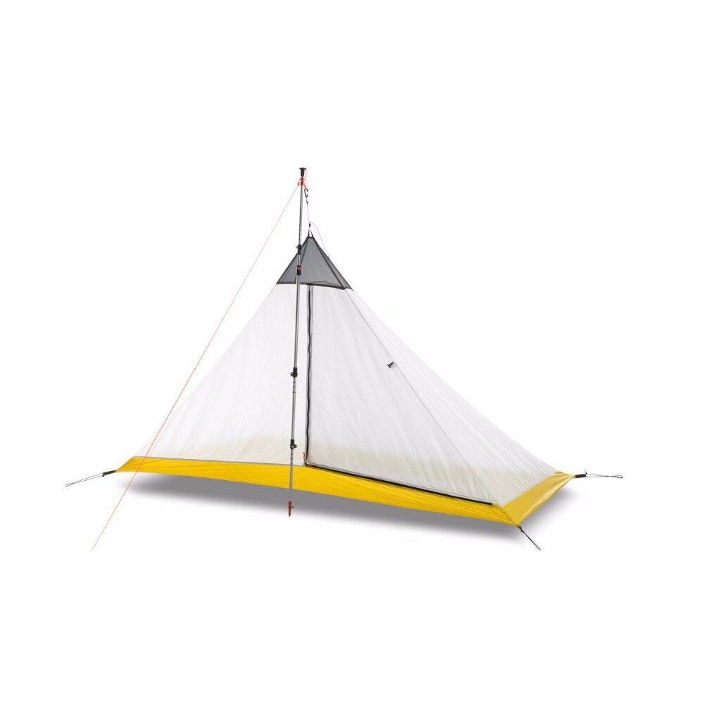 O creed do flameultralight s ultralight 1-2 pessoa que reveste a barraca interna exterior 3/4 estações barraca de acampamento pirâmide sem haste grande barraca