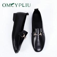 Chaussures plates femmes 2020 nouveau concepteur en cuir PU chaussures plates pour femme bouche peu profonde doux grande taille femme travail chaussure femme Zapatos Mujer