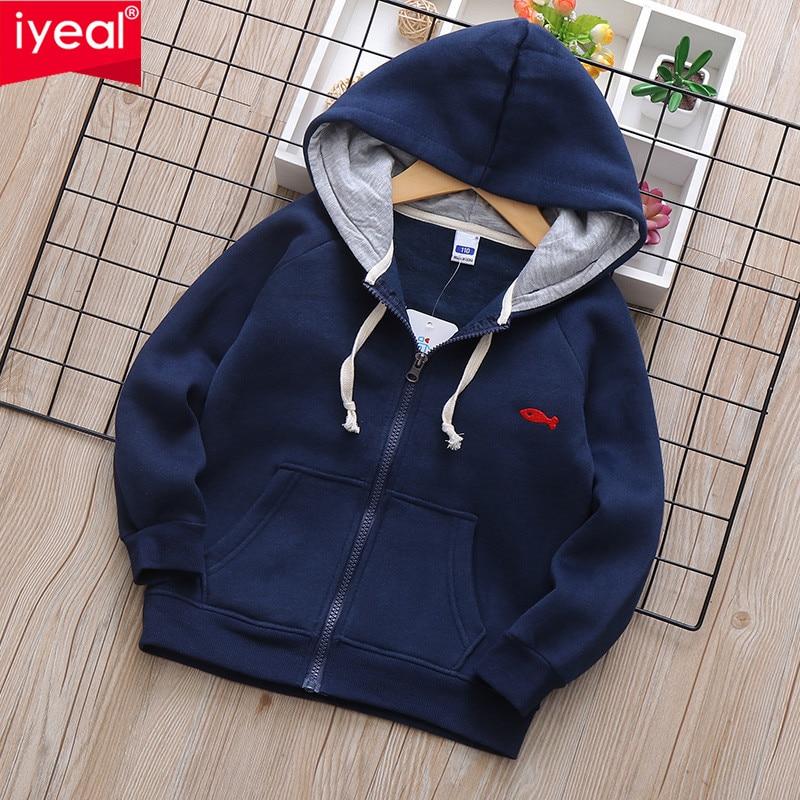 IYEAL 2020 Otoño Invierno niños chaqueta caliente al aire libre abrigo de lana con capucha moda deportiva chaquetas a prueba de viento ropa de abrigo para niños