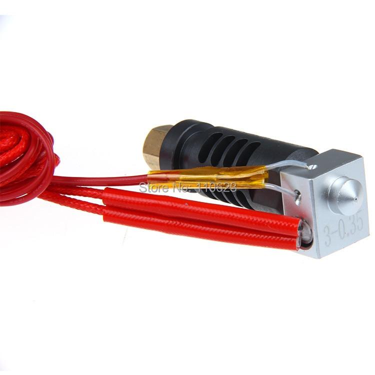 Ensamblado peek j-head Hotend extrusor boquilla 0,3 para filamento de 3mm ABS/PLA para Makerbot
