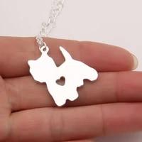 yorkie necklace yorkshire terrier pendant puppy heart dog memorial pet necklaces pendants women christmas gift