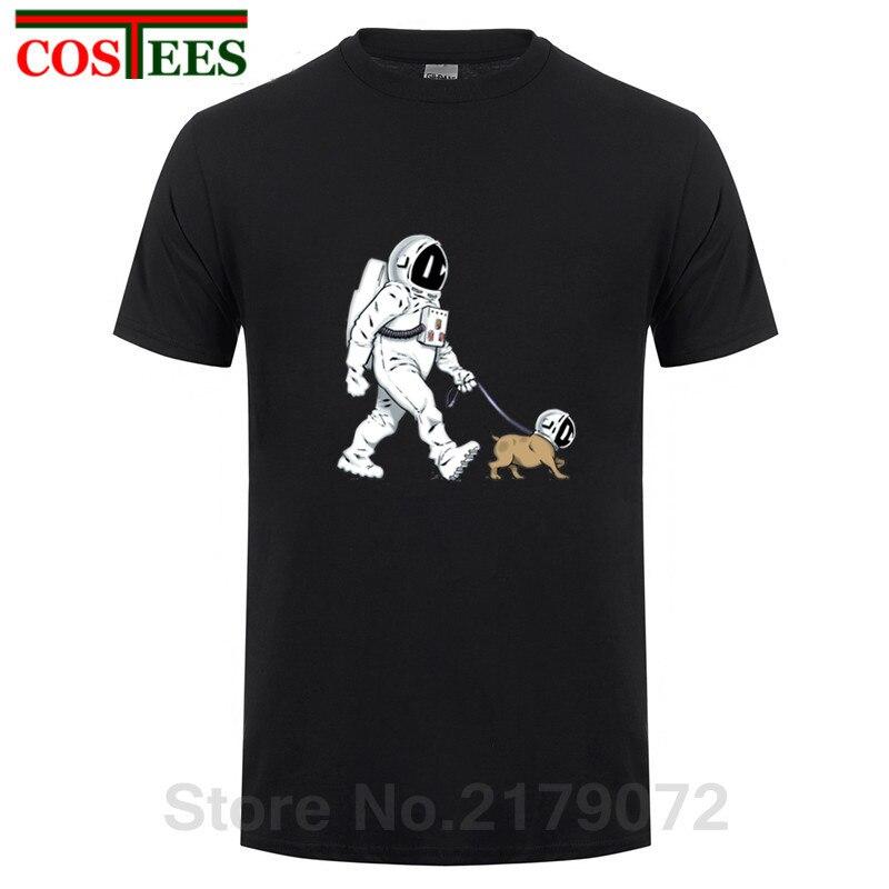 The Walking Dead T shirt men SpaceX Spaceship tshirt Astronaut Dog Cool T-shirt Rocket tshirt homme StarmanX Space dog Tees Tops