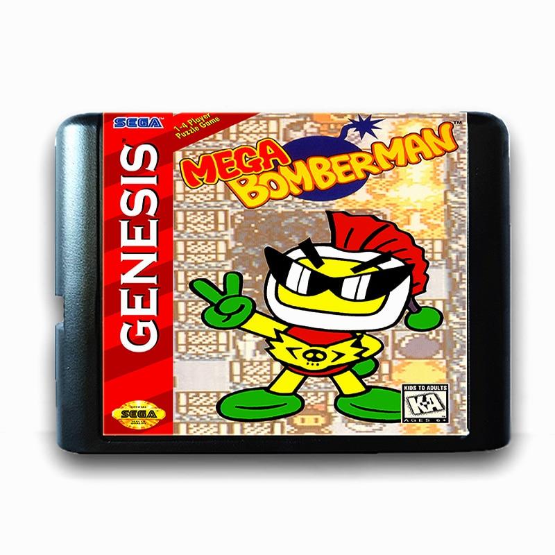 Mega Bomber hombre 16 poco Sega tarjeta de juego MD para Mega Drive para Génesis Video consola de juego amigo EE. UU. Japonés.