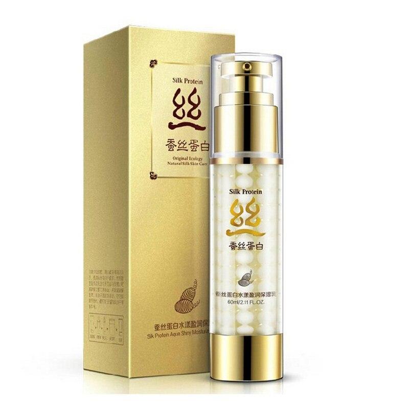 60g cuidado facial crema de proteína de seda de marca BIOAQUA cuidado de la piel hidratante profundo Anti arrugas blanqueamiento de control de aceite crema