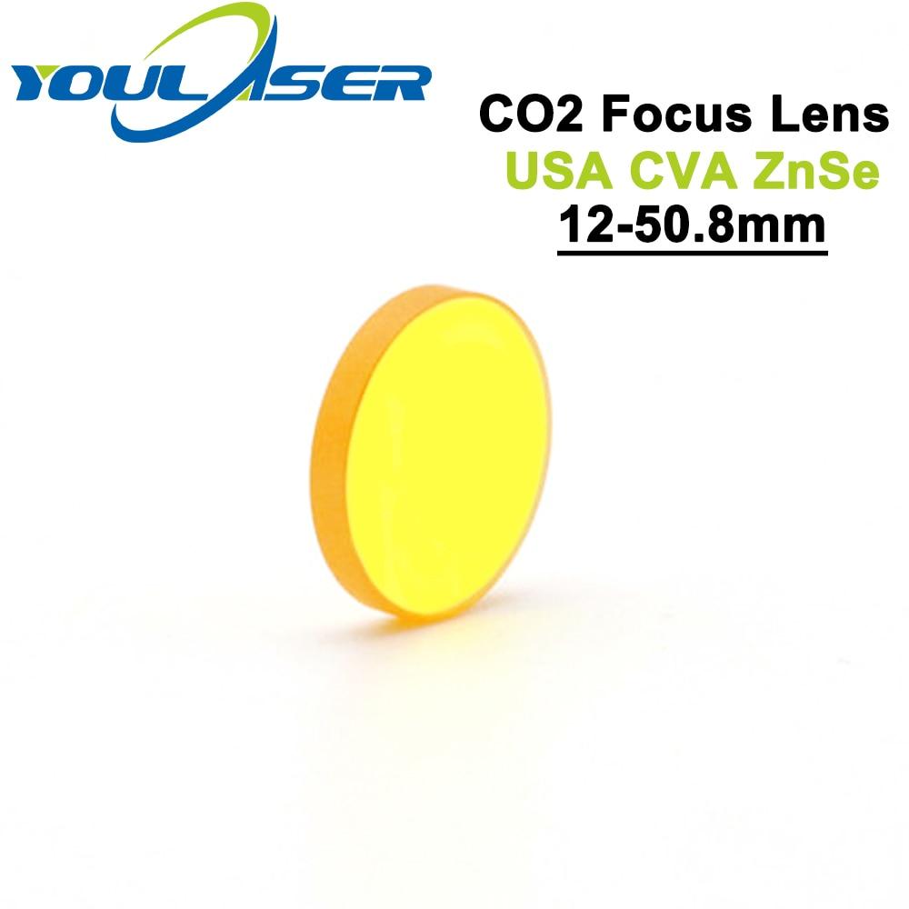 Lente de Foco do Laser para a Máquina do Laser Znse Dia. 12mm fl 50.8mm 2 Co2 Eua Cvd