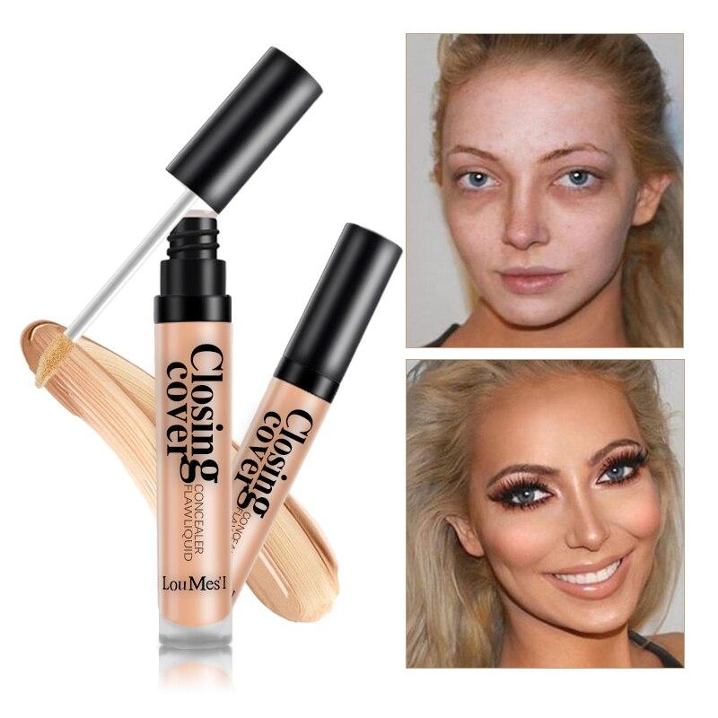 Loumesi Make-Up Concealer Flüssigkeit concealer Perfekte Abdeckung Poren Augenringe Öl-control Wasserdichte Flüssigkeit Concealer Gesicht Primer