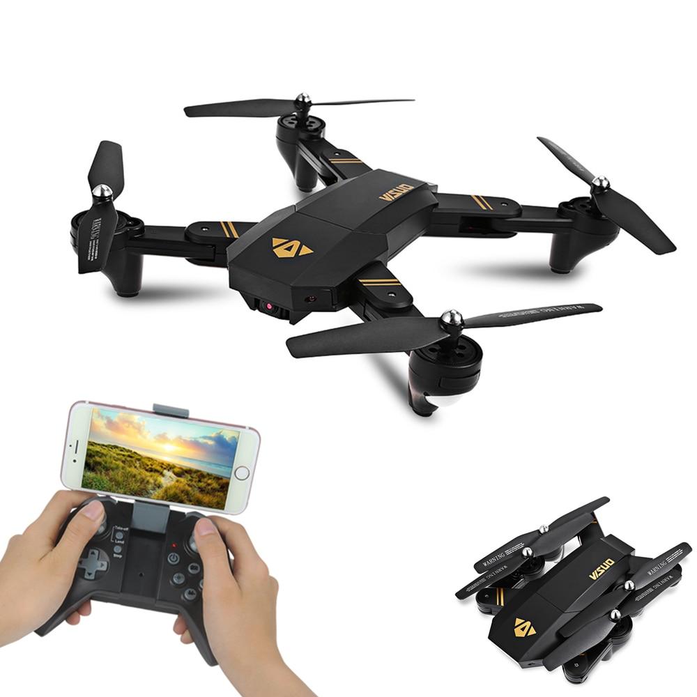 TIANQU VISUO XS809W cuadricóptero Mini Dron Selfie plegable con Wifi FPV 0.3MP/2MP Cámara altitud mantener RC Drone