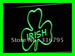 i486 Shamrock Irish Pub Bar Club NEW LED Neon Light Light Signs On/Off Switch 20+ Colors 5 Sizes