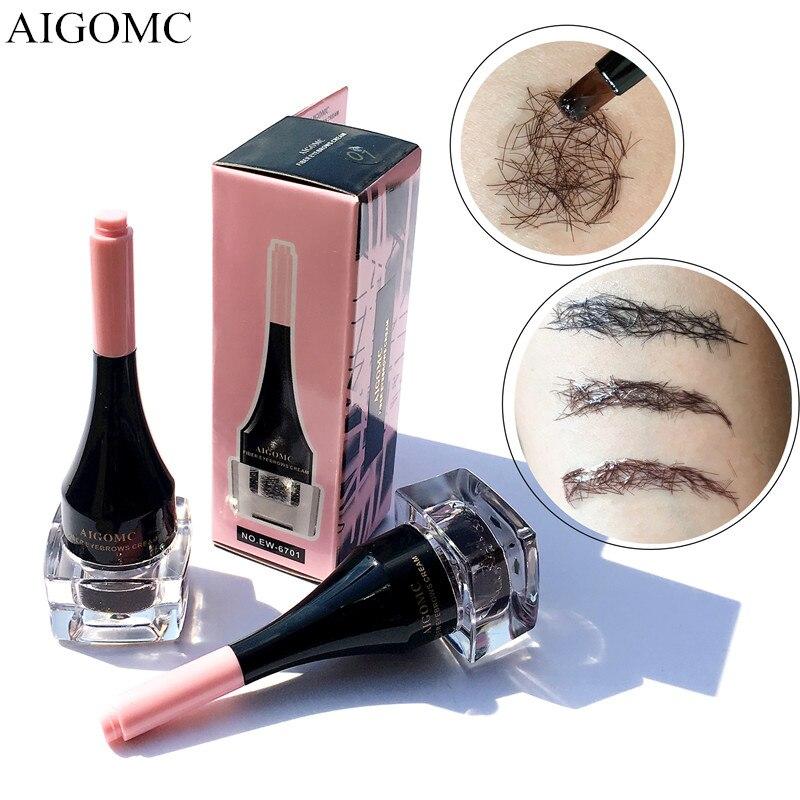 1 ud. De extensiones de cejas 3D naturales a prueba de agua Gel café negro fibra ojo potenciador de cejas tatuaje + cepillo cosméticos herramientas de maquillaje