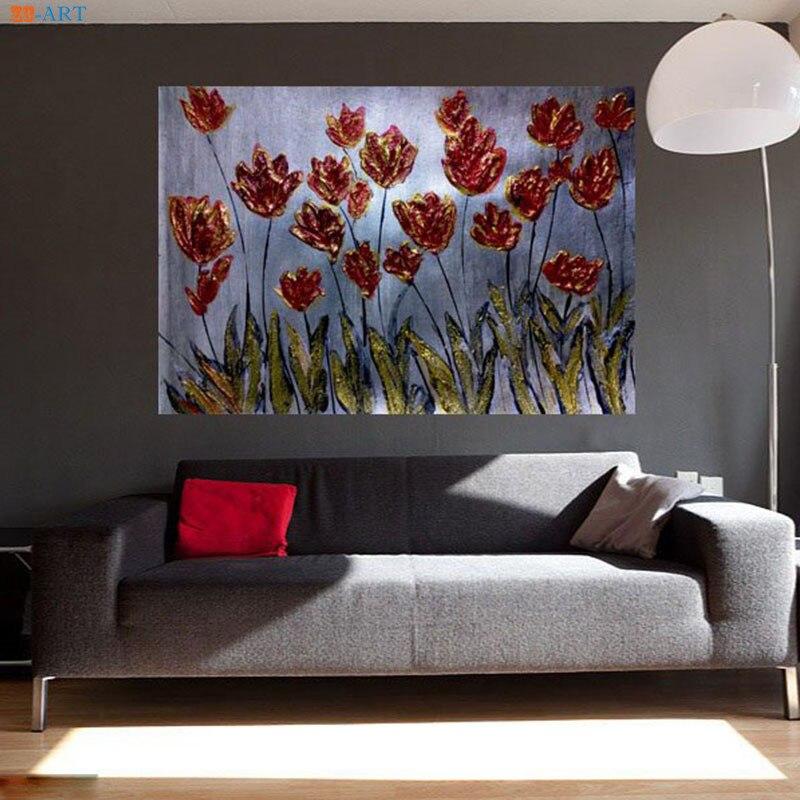 Decoración de boda pintura abstracta flores lienzo pintura pósteres de árboles e impresiones arte de pared fotos de pared chicas decoración de la habitación