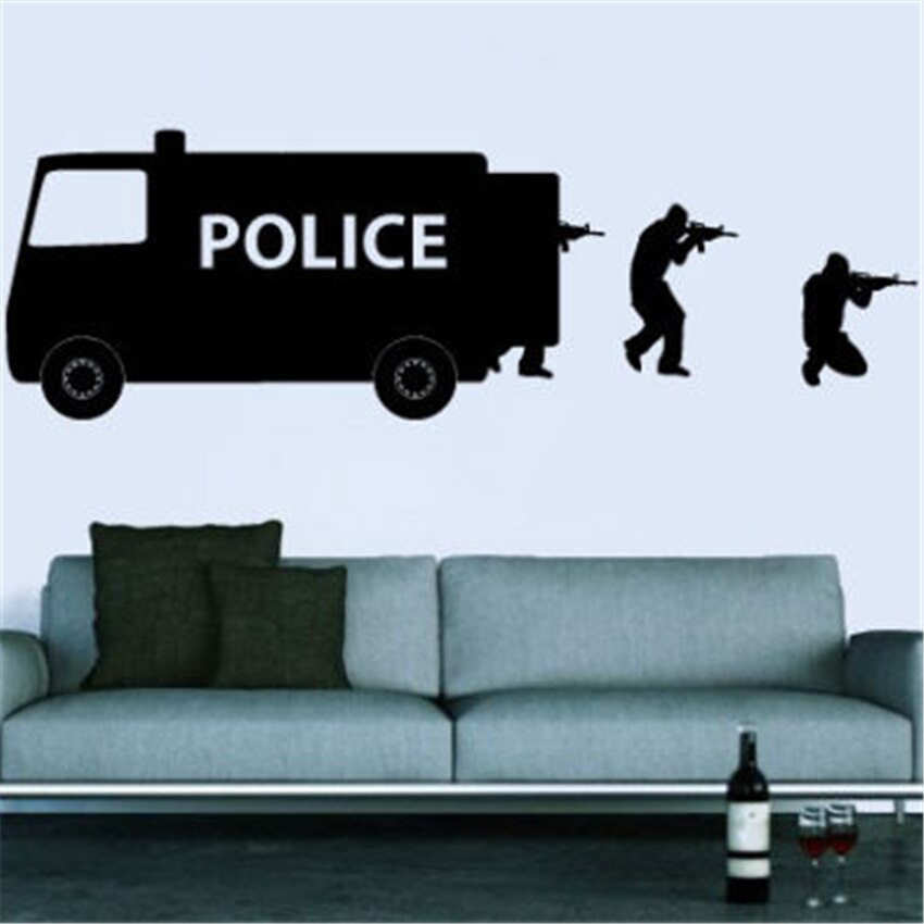 Art Decor Wall Decal Vinyl Sticker Bedroom Dorm SWAT children game police Wall Sticker D97