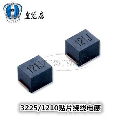 Inductores de bobinado de 100 piezas/SMD 1210 5% NLV32T-121J-PF inductancia de plástico palabra 121