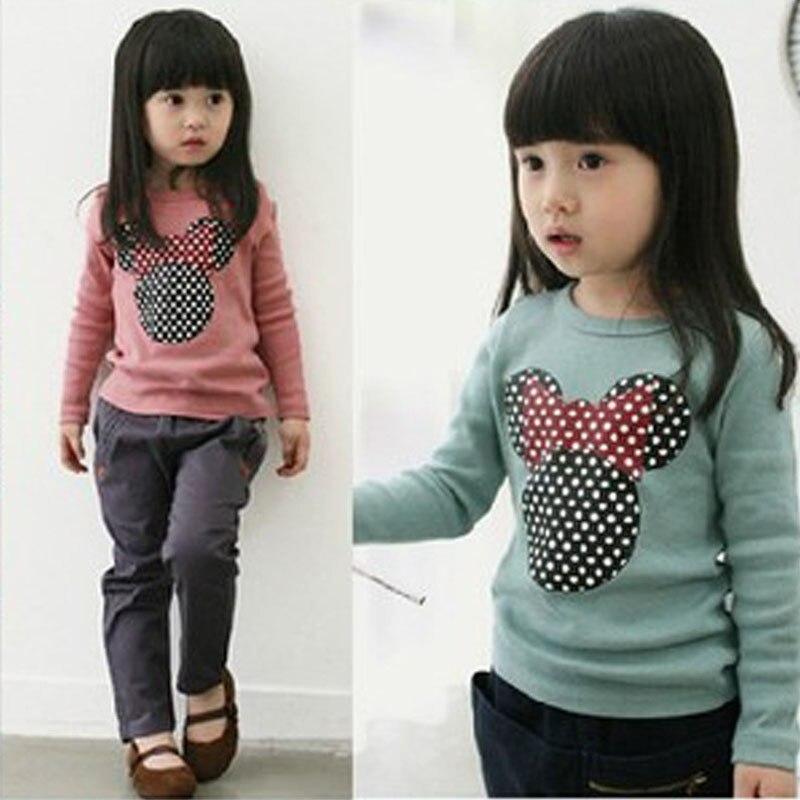 2018 Autumn Baby Girls Shirts Long Sleeve Cute embroidered blouse Girl Blouses Baby Kid Long Sleeve Cat Shirt Tops Shirt G0132