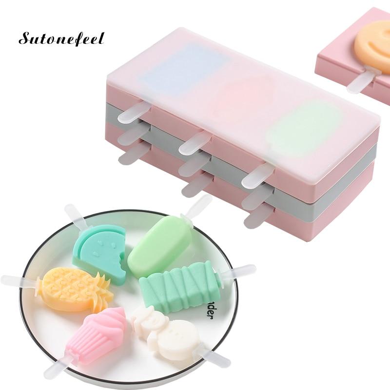Силиконовая форма для мороженого с крышкой, форма для животных, желе, форма для льда, леденец, форма для льда, кубик для украшения конфет
