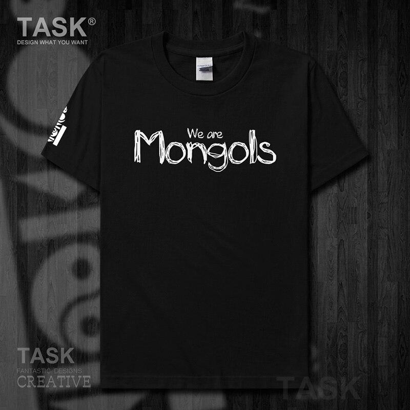 Mongolia MNG Mongol Mongolian element mens t shirt Top t-shirt Short sleeve clothes cotton summer Mongolian handwriting Font 15