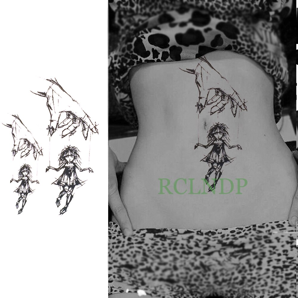 Tatuaje temporal a prueba de agua para niña pequeña tatuaje geométrico flash tatuajes falsos arte corporal de gran tamaño para chica mujer hombre niños