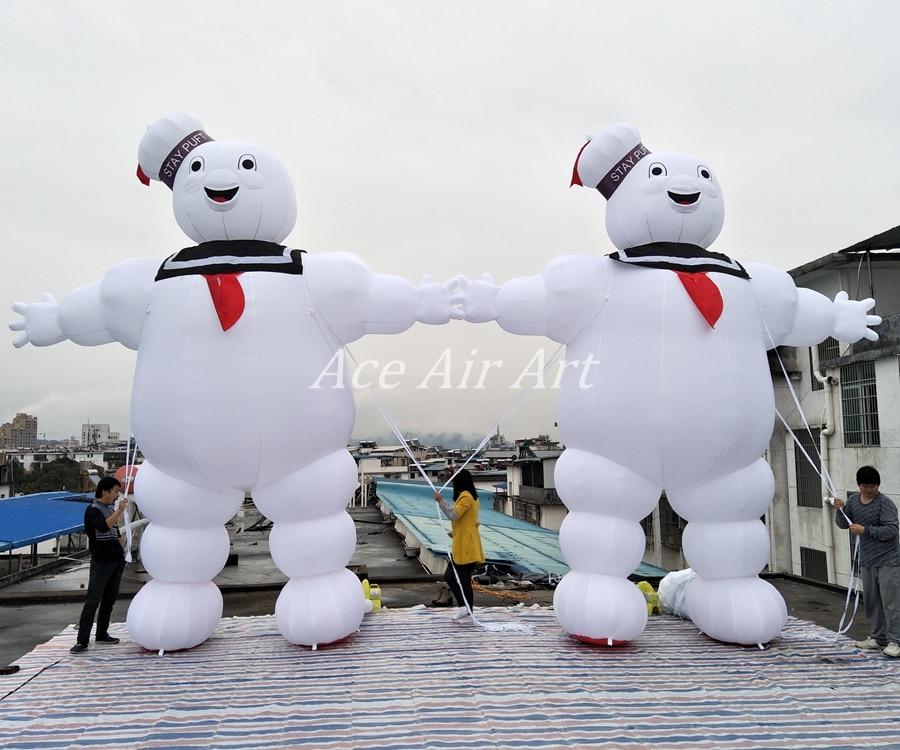 5m de altura publicidad promocional inflable stay puft inflable marshmallow modelo para la venta