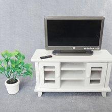 112 maison de poupée Miniature TV et télécommande mignon mini gris écran plat LCD télévision salon meubles accessoire LTT9843