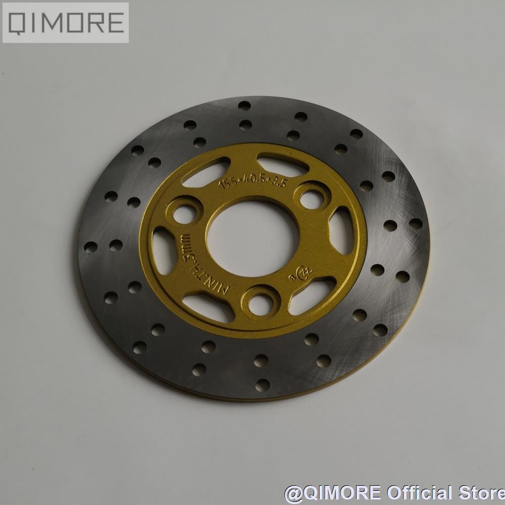 155mm disco de freno delantero/Rotor de freno para Scooter JOG50 JOG90 AXIS90 YW50 ZUMA Baja SunCity 50 TaoTao rápida 50 Lance GTR 50