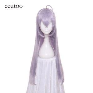 ccutoo Akashic Records of Bastard Magic Instructor Sistine Fibel Long Straight Silver Grey Purple Mix Synthetic Cosplay Wig