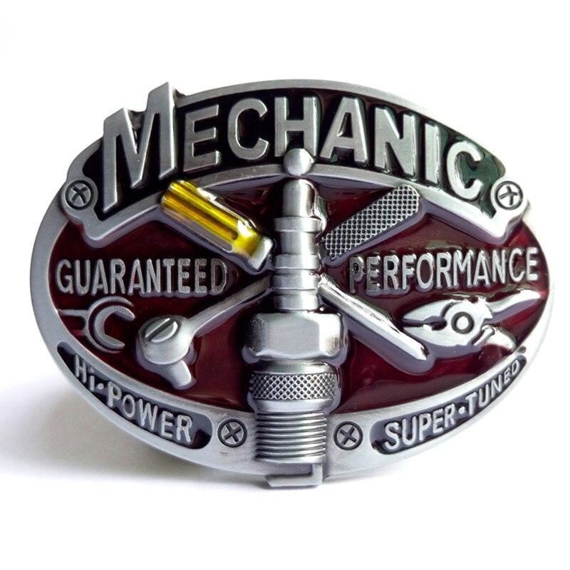 Venda quente Ferramenta Mechanic Belt Buckle Brand New Western Design Com Bom Revestimento Adequado Para 4 cm de Largura Cinto Gota grátis