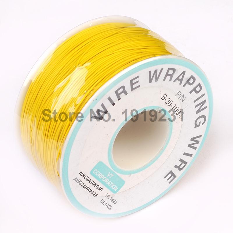 Gran oferta Cable eléctrico amarillo de 250 metros, Cable de envoltura de...