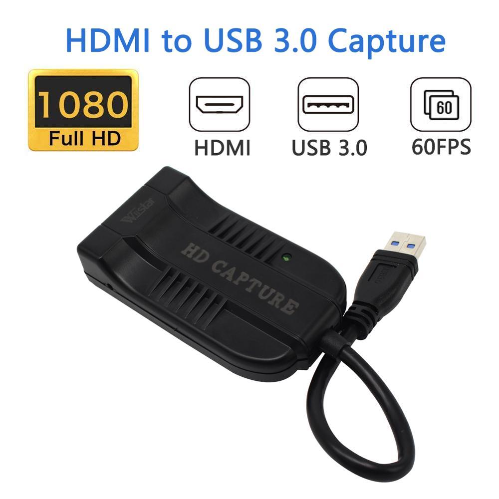 Wiistar HDMI a USB 3,0 captura de vídeo Dongle 1080P 60FPS Video Audio grabador juego para XBOX PS4 TV en vivo