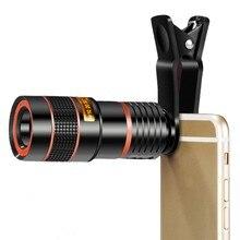 Universal Mobile Phone Lens 8X Smart Phone Telescope Head Universal Clip 8 Times Telephoto Lens