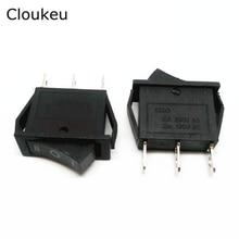 5Pcs 10*28MM Rocker Switch Black KCD3-103 3Pin 3File Seesaw Power switch 15A250V