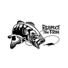 Прекрасный автомобиль Стайлинг рыбалка Карп Рыба респект рыба Светоотражающая авто наклейка мультфильм бампер автомобиля стикер тела шаблон винил
